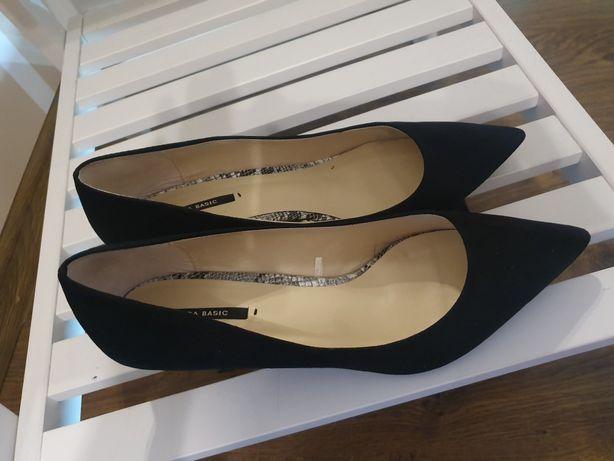 Śliczne czarne mini szpilki,  rozmiar 39, Zara, czarne