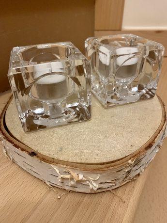 Szklane świeczniki na tealighty yankee candle i inne