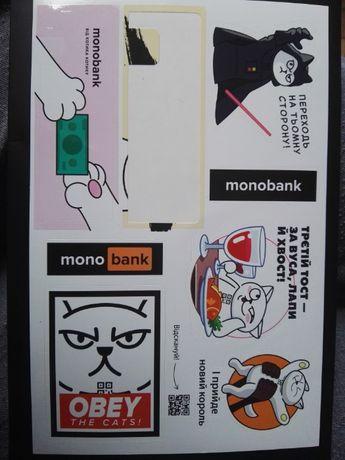 Нові стікери від Моно банку (без одного)