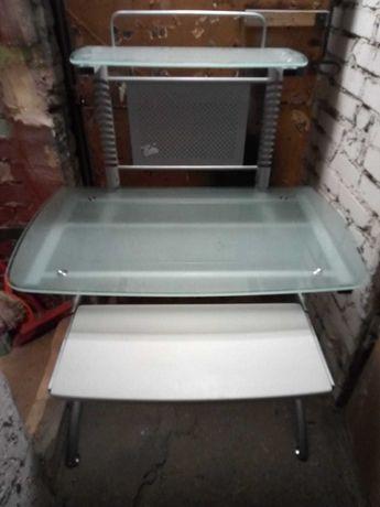 Biurko Stol stolik pod komputer szklany