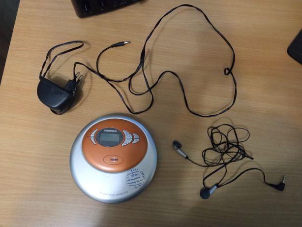 Grundig CDP 5100 Discman odtwarzacz mp3 + słuchawki + zasilacz