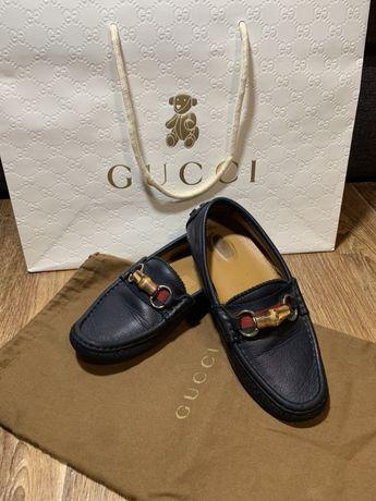 Туфли, мокасины на мальчика Gucci original 33 размер. Кожа