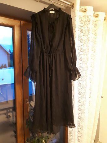 Piękna czarna klasyczna sukienka M