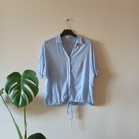 Bluzka błękit bialy  L