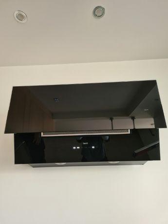Okap kuchenny BEST Flap 800, czarny szkło