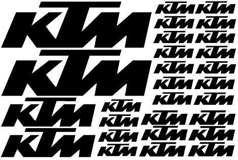 Zestaw naklejek KTM dowolny kolor