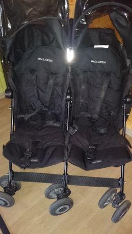 Wózek bliźniaczy Maclaren Twins techno, spacerówka parasolka