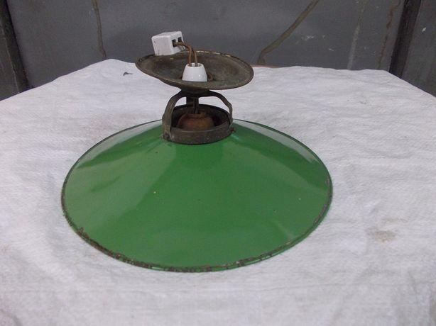 Stara przedwojenna lampa wisząca emaliowana