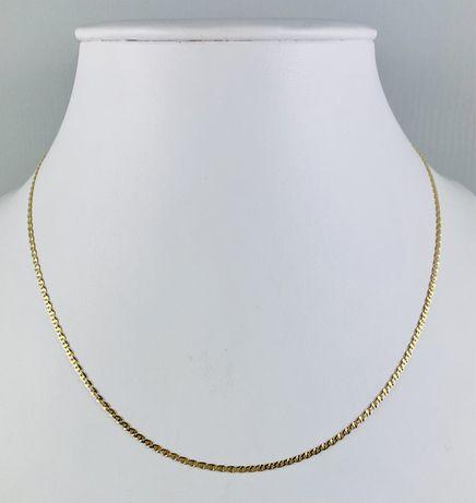 Złoty Damski Łańcuszek z Białym Złotem Pr.585 NOWY!