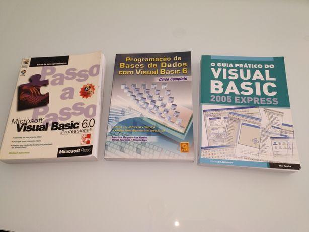 Vendo 3 Livros FCA/LIDEL sobre Visual Basic