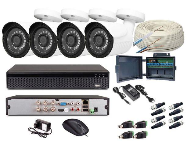 Monitoring DOMU/FIRMY 4 kamery 8MPX (4K) metalowe -podgląd na tel