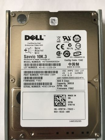 Серверные диски Savvio Dell HDD SAS 2.5 300Gb 6gbps 10K ST9300603SS