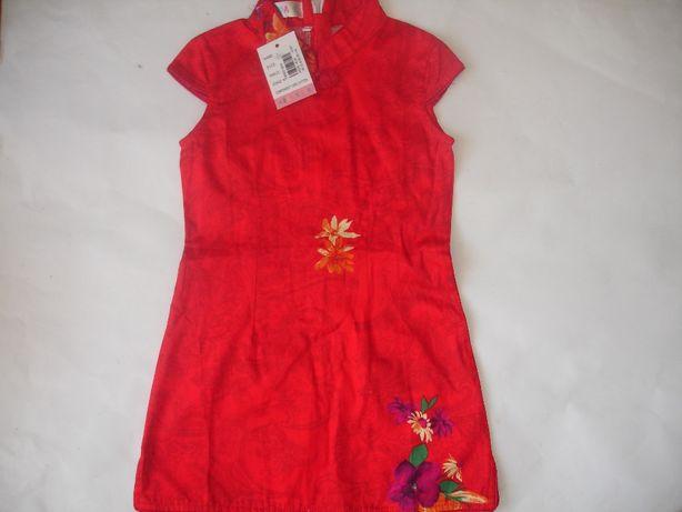 Фирменное стильное платье в японском стиле девочке 2-4 лет