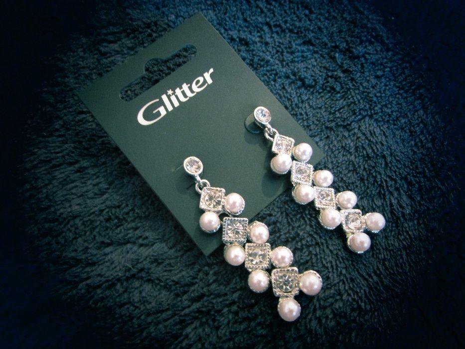Kolczyki perłowe wiszące Legnica - image 1