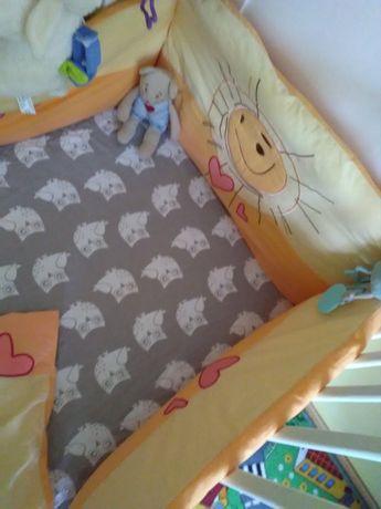 Zestaw ochraniacz do łóżeczka, komplet pościeli