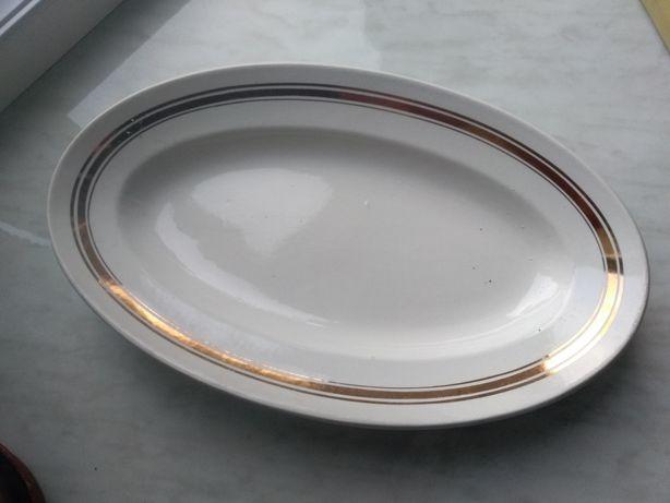 Блюдо овальне з позолотою