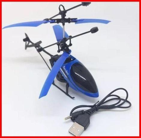 Вертолет детский летает от руки Shock Sky оригинал на аккумуляторе