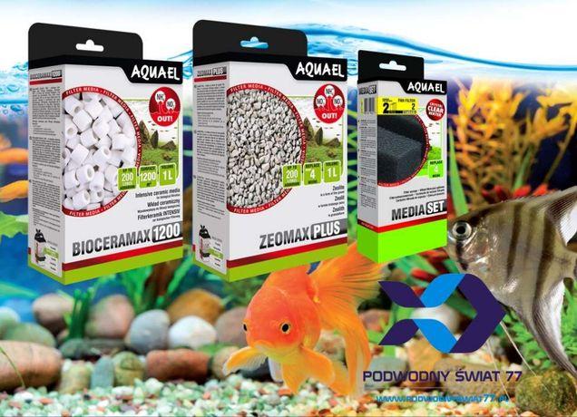 Aquael media filtracyjne (ceramika, wkłady gąbkowe chemiczne) akwarium