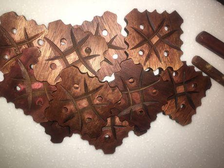 Деревянные пластины для рукоделия,11шт