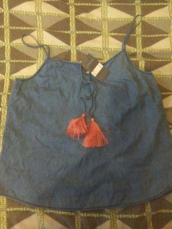 Фирменная джинсовая лёгкая блузка! Janina!