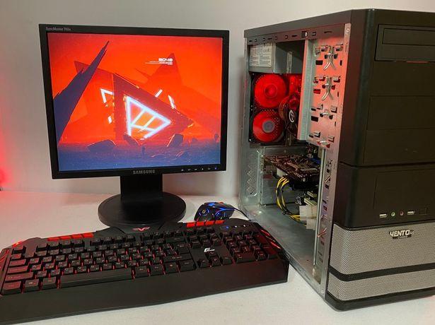 Бюджетный игровой компьютер пк с монитором + 4 ядра + TI550