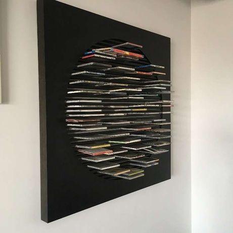 Porta CD parede madeira estante PORADA Italia design - Desconto