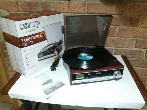 """Gramofon """"CAMRY"""" CR 1113 (Gramofon + Radio + Zegar z budzikiem)"""