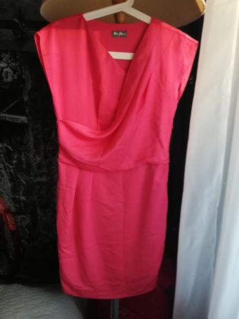Sukienka xs/34, na okazję lub do pracy, różowa