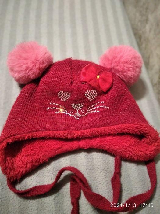 Теплая шапочка для девочки Днепр - изображение 1