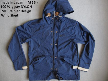japońska S-M wiatrówka nylon kurtka windstopper trekkingowa windblock