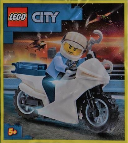 Lego Policjant na motorze