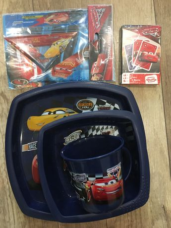 Zestaw naczyn Cars Disney auta, gra, akcesoria