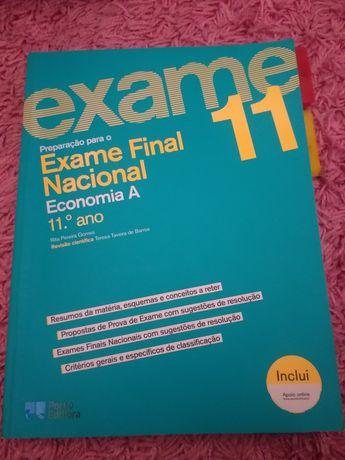 Livro de preparação para exame nacional - Economia A 11° ano