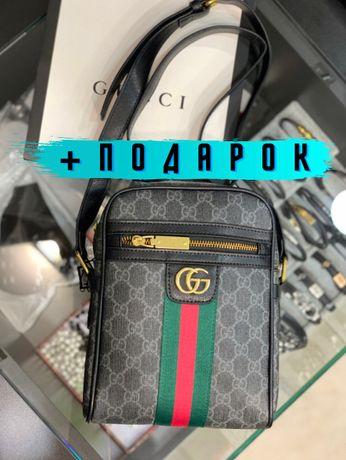 Сумка на плечо кроссбоди мессенджер планшетка Гуччи Gucci c541