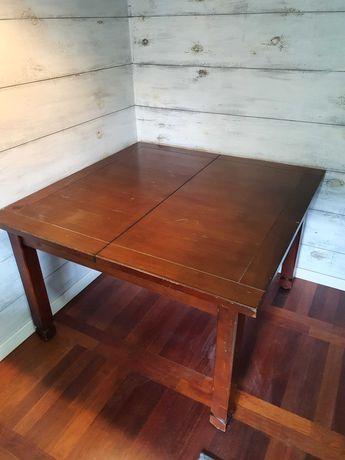 Stół drewniany rozkładany 120x120x77 cm