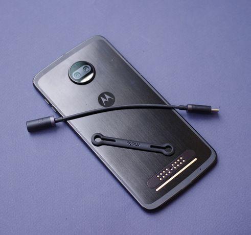 Адаптер USB Type-C на 3.5 аудио джек Motorola Moto Z Z2 Z3 force юсб