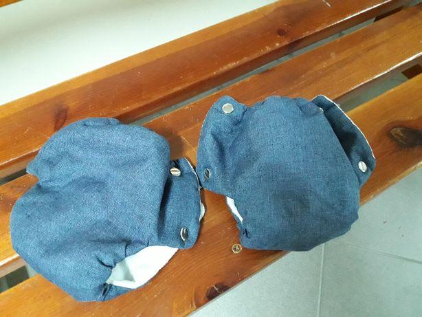 Mufki do wózka ocieplacze jeans