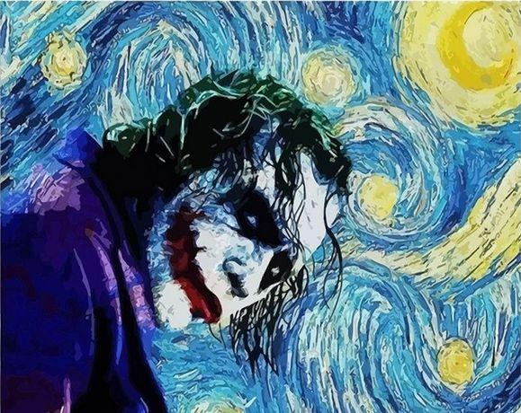 Namaluj obraz sam -* Joker wg Van Gogha * do malowania po numerach