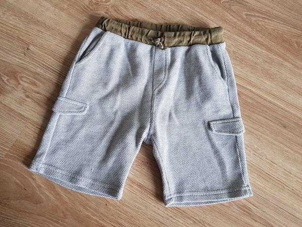 Zara krótkie spodenki dresowe szorty szare z kieszeniami 122
