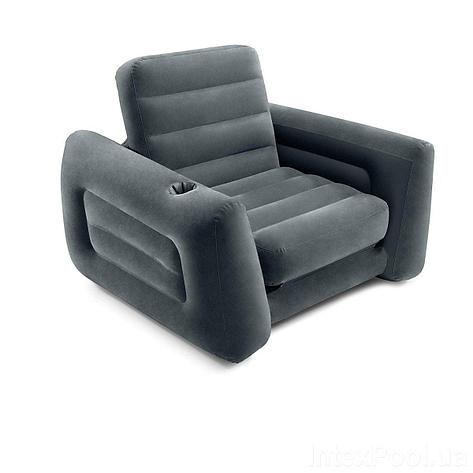 Надувний розкладний матрас INTEX 66551 117х224х66 см. крісло, ліжко