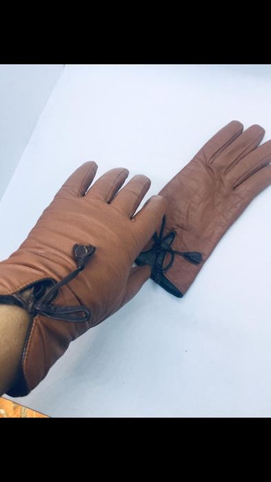 Итальянские кожаные перчатки на подкладке Киев - изображение 1