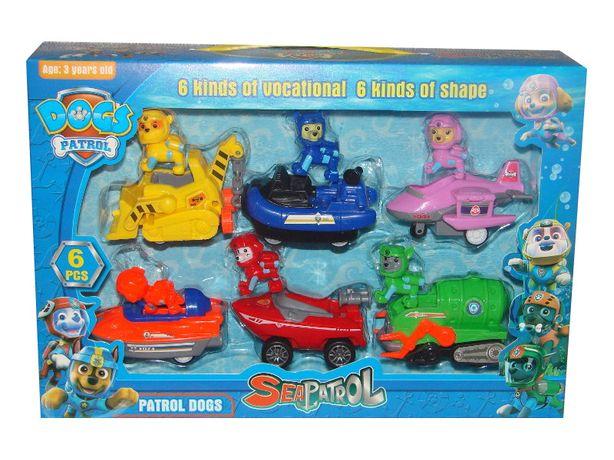 WODNY PSI PATROL 6 figurek w pojazdach z napędem