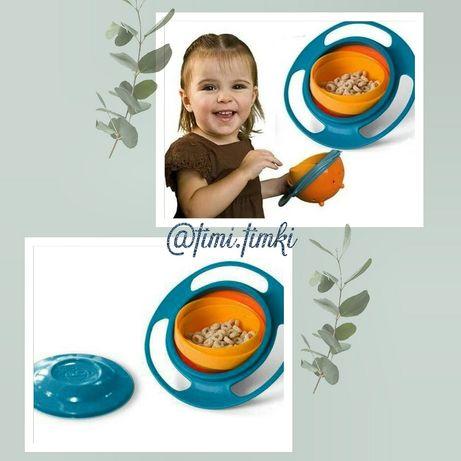 Детская тарелка - неваляшка из экологически безопасного пластика посуд