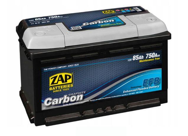 Akumulator ZAP Carbon EFB 85Ah 750A EN 12V Akumulatory START STOP