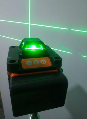 Nowy samopoziomujący laser krzyżowy HILDA 4d 16 linii poziomnica pilot