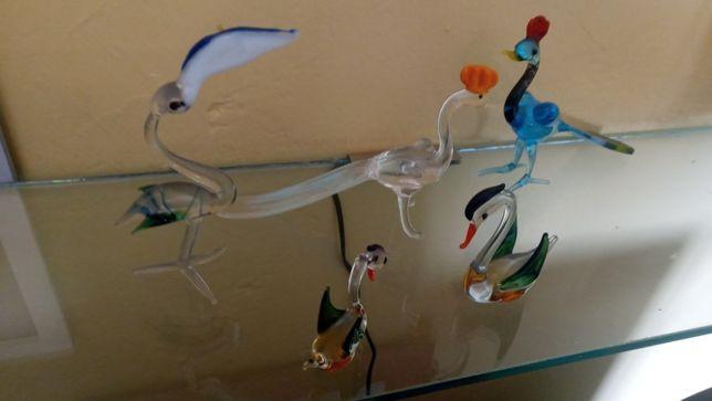 super szklane figurki ptaszków anglia