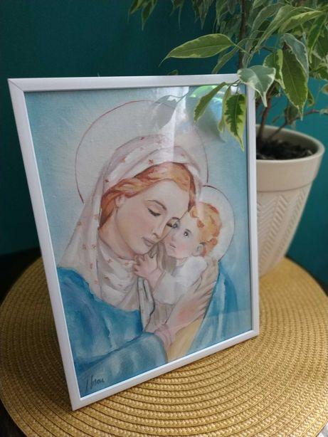 Obraz w ramce z wizerunkiem - Maryja z Dzieciątkiem Jezus