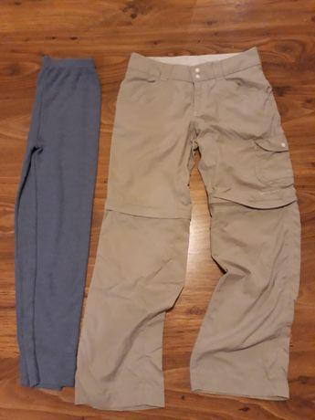 Columbia spodnie trekkingowe 128-134 lekkie spodenki 8 lat
