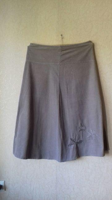Юбка женская 50 размера M&CO ,Микровильвет