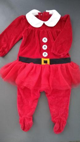 Kombinezon pajac świąteczny Mikołaj next baby 80cm